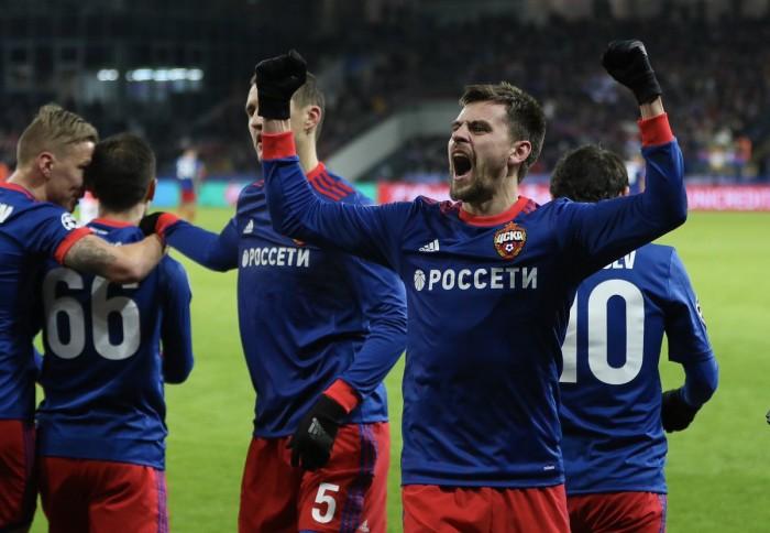 Champions League- Il CSKA Mosca vince e spera Benfica ko per 2-0