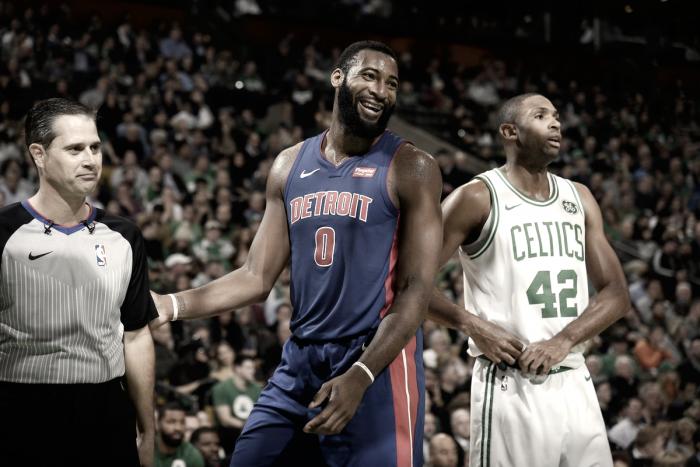 AndreDrummond desequilibra e Pistons vence Celtics no TD Garden