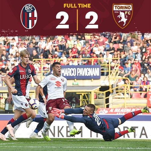 Serie A- Il Torino prova a scappare, ma il Bologna lo riprende (2-2)