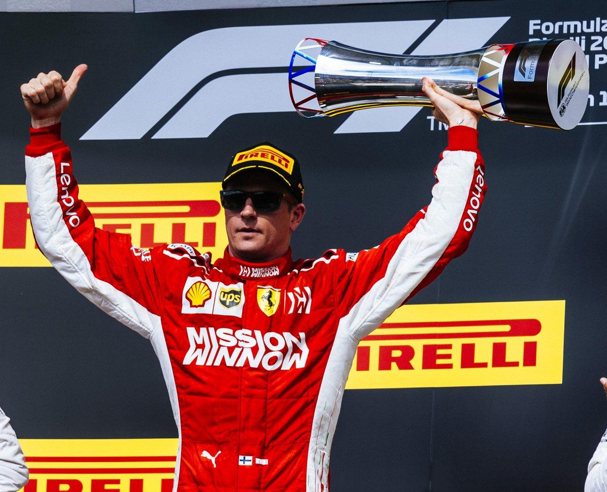 Il canto del cigno di Kimi con la Ferrari