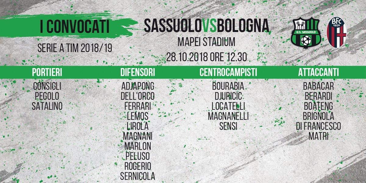 Sassuolo - Bologna, le ultime del derby emiliano