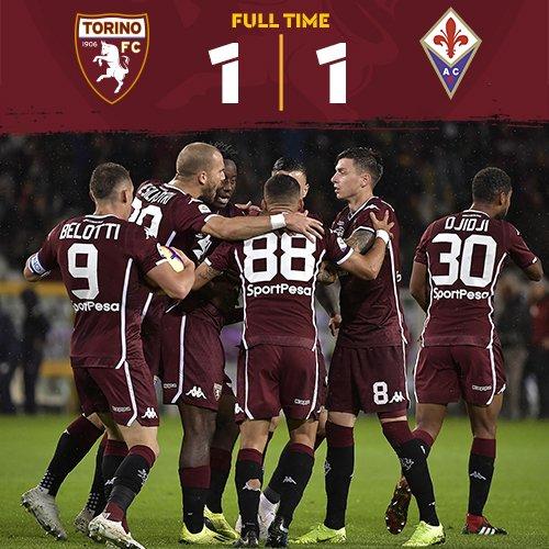Serie A- Torino e Viola non si fanno male e pareggiano 1-1