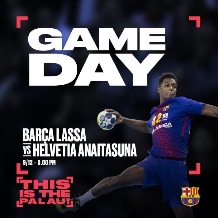 Resumen Barcelona Lassa 38 - 26 Helvetia Anaitasuna por la jornada 14 de la Liga Loterías Asobal 2017