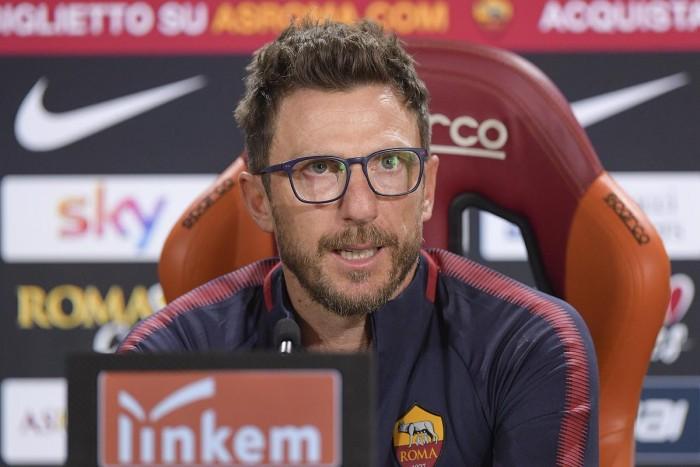 Roma, vigilia di Champions: la conferenza stampa di Di Francesco e De Rossi