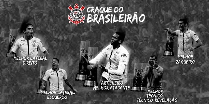 Campeão, Corinthians domina principais seleções do Campeonato Brasileiro 2017