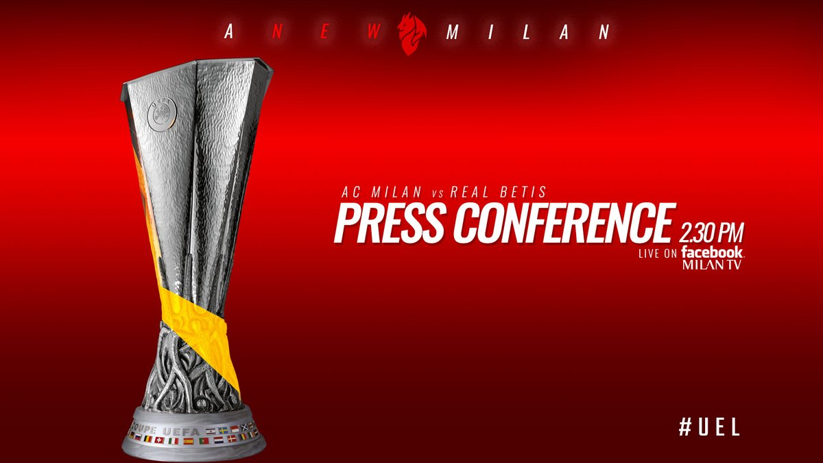 Europa League, Milan - Betis Siviglia: la conferenza stampa di Gattuso