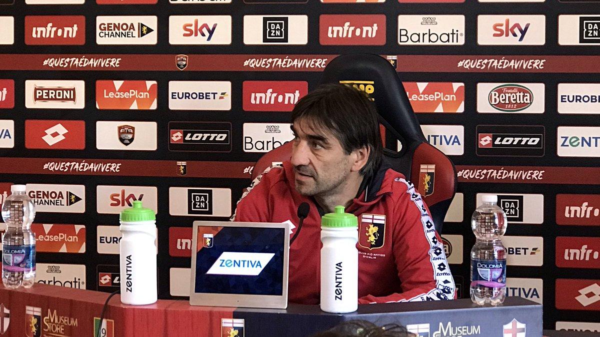 Milan - Genoa, Juric in conferenza stampa