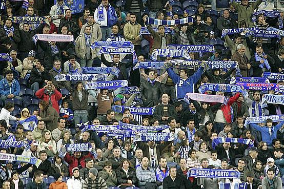 La afición del FC Porto sufre