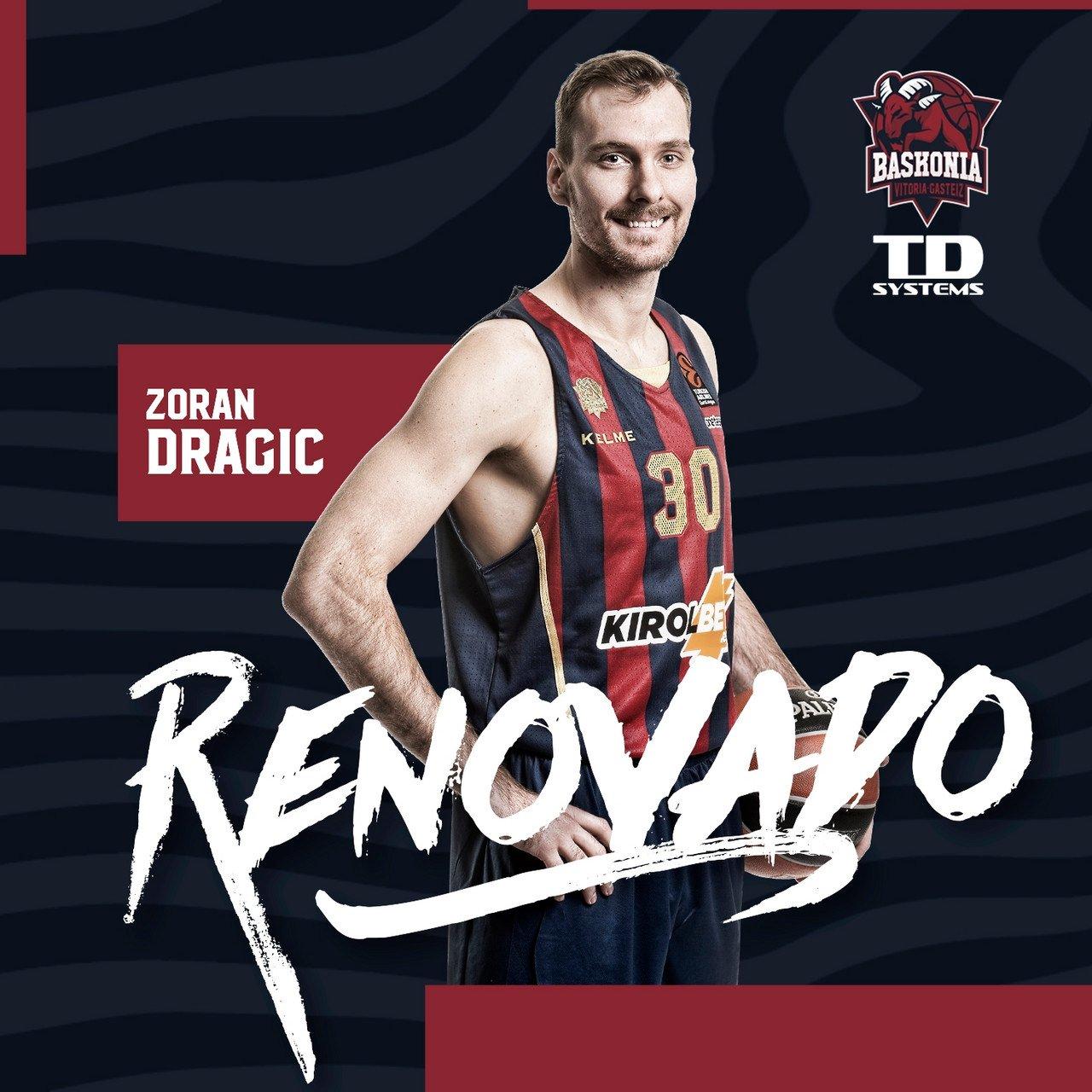 Zoran Dragic, baskonista hasta 2021