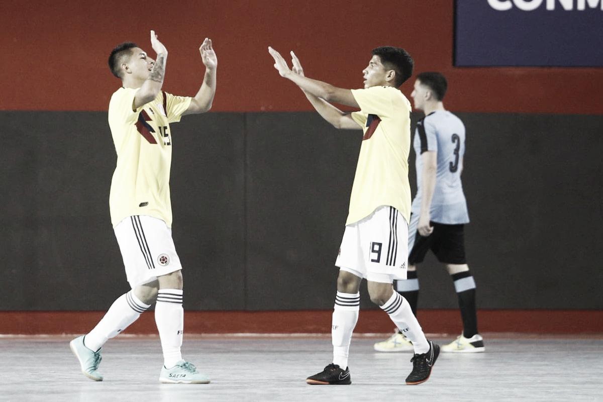 Colombia acabó la fase de grupos del Sudamericano Sub 20 de futsal goleando a Uruguay