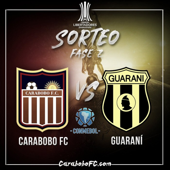 Carabobo FC enfrentará a Guaraní de Paraguay en la fase dos de la Libertadores