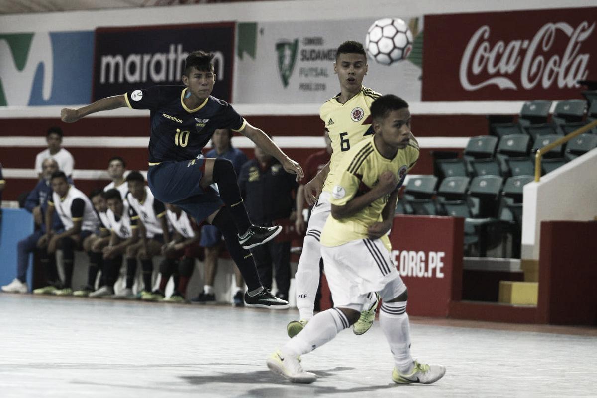Colombia venció a Ecuador en el Sudamericano Sub 20 de futsal
