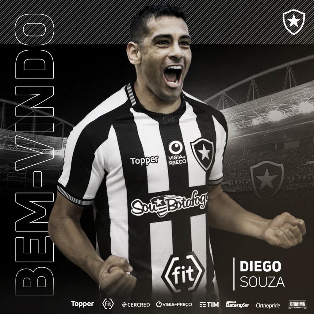 De volta ao Rio! Botafogo anuncia a contratação de Diego Souza por empréstimo