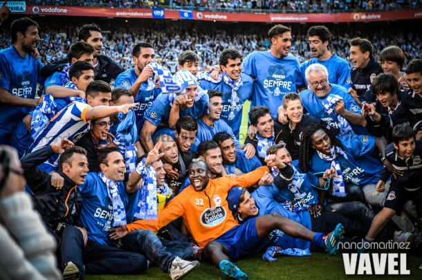 Fotos e imágenes del ascenso del Deportivo de la Coruña: la celebración