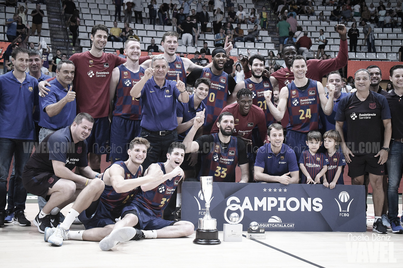 El FC Barcelona reina en la Liga Catalana