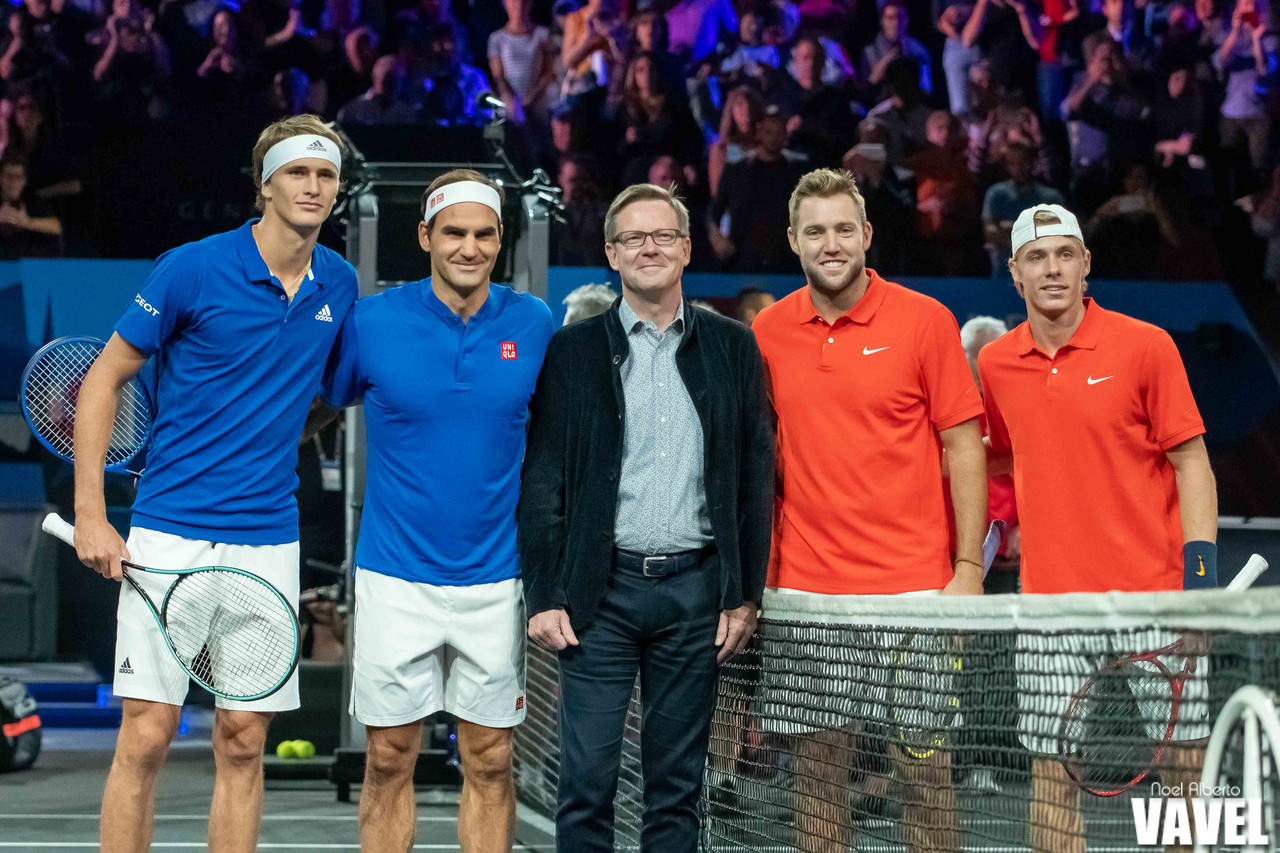 Laver Cup: Alexander Zverev/Roger Federer vs Denis Shapovalov/Jack Sock photo gallery