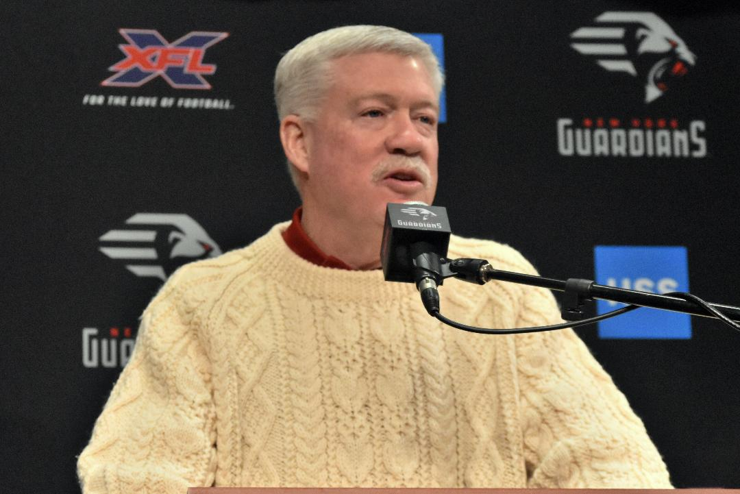 """XFL: Kevin Gilbride """"excited"""" about New York Guardians victory over Los Angeles Wildcats"""