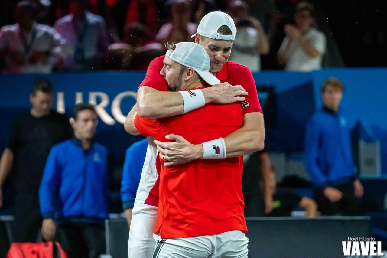 Laver Cup: Roger Federer/Stefanos Tsitsipas vs Jack Sock/John Isner photo gallery