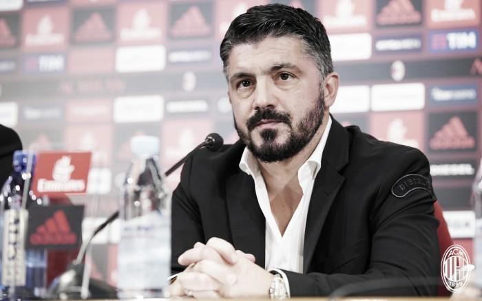 """Escolhido como novo comandante do Milan, Gattuso exalta Bonucci: """"Ele será meu capitão"""""""