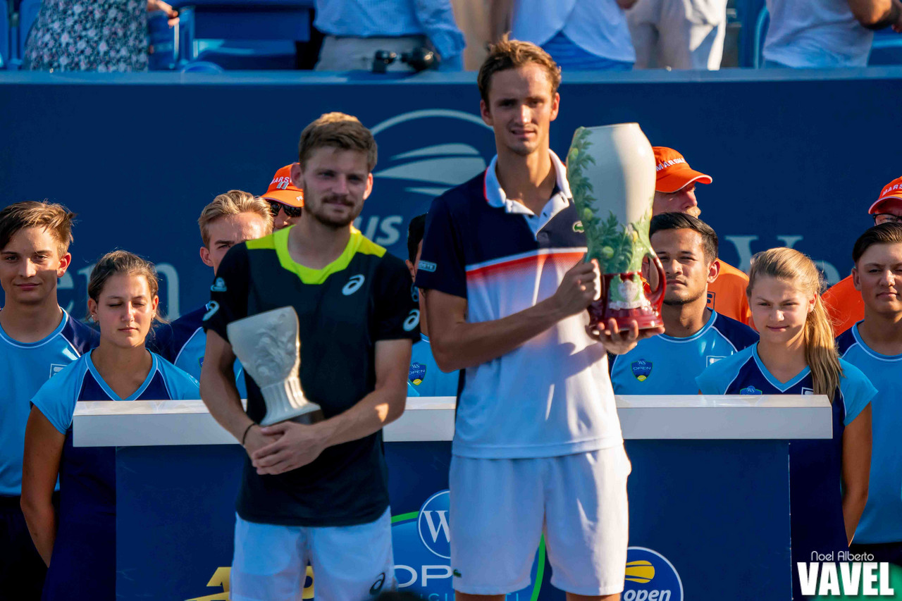 Western and Southern Open men's final: Daniil Medvedev vs David Goffin
