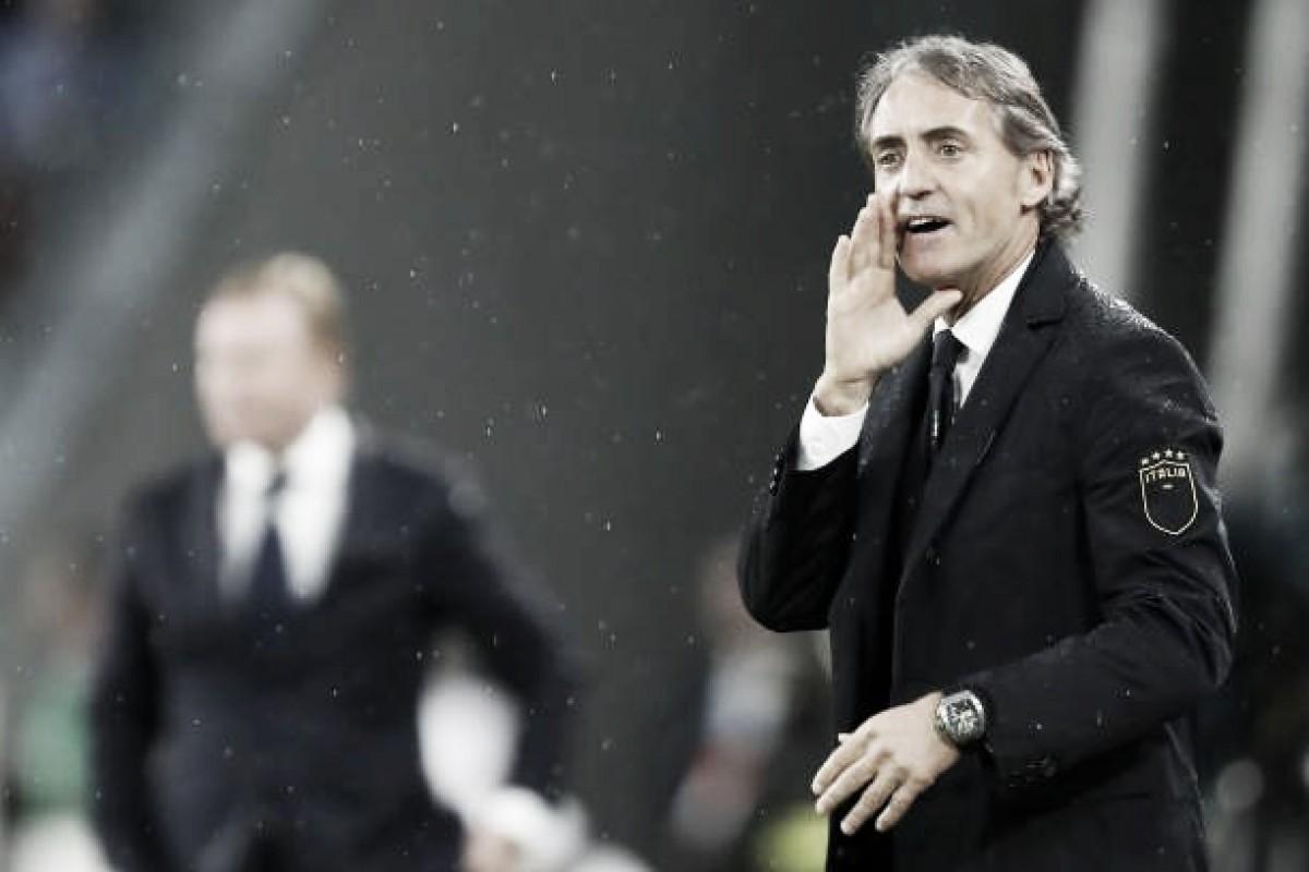 """Após primeiros testes no comando da Itália, Mancini elogia elenco: """"Eles tem a mentalidade certa"""""""