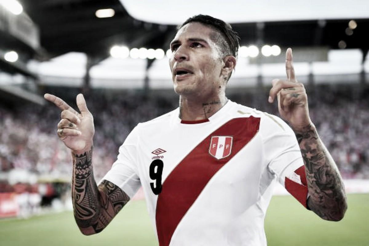 Ele voltou! Guerrero marca dois e Peru vence Arábia Saudita em amistoso
