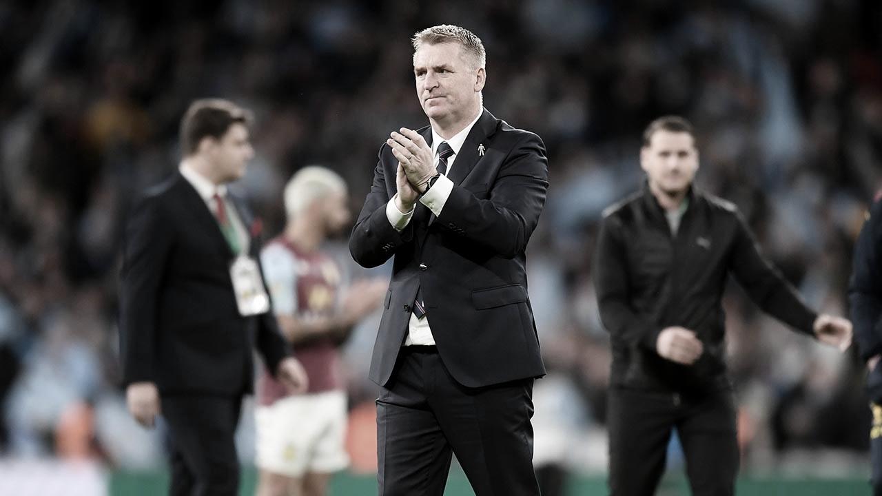 """Dean Smith enxerga potencial recuperação no Aston Villa após vice: """"Padrão que devemos ter"""""""