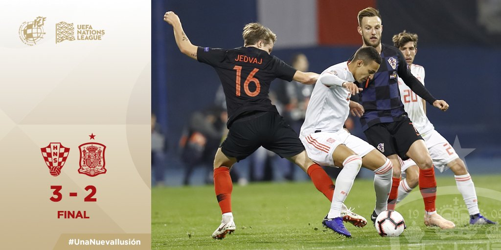 UEFA Nations League - Jedvaj all'ultimo respiro: Croazia batte Spagna 3-2