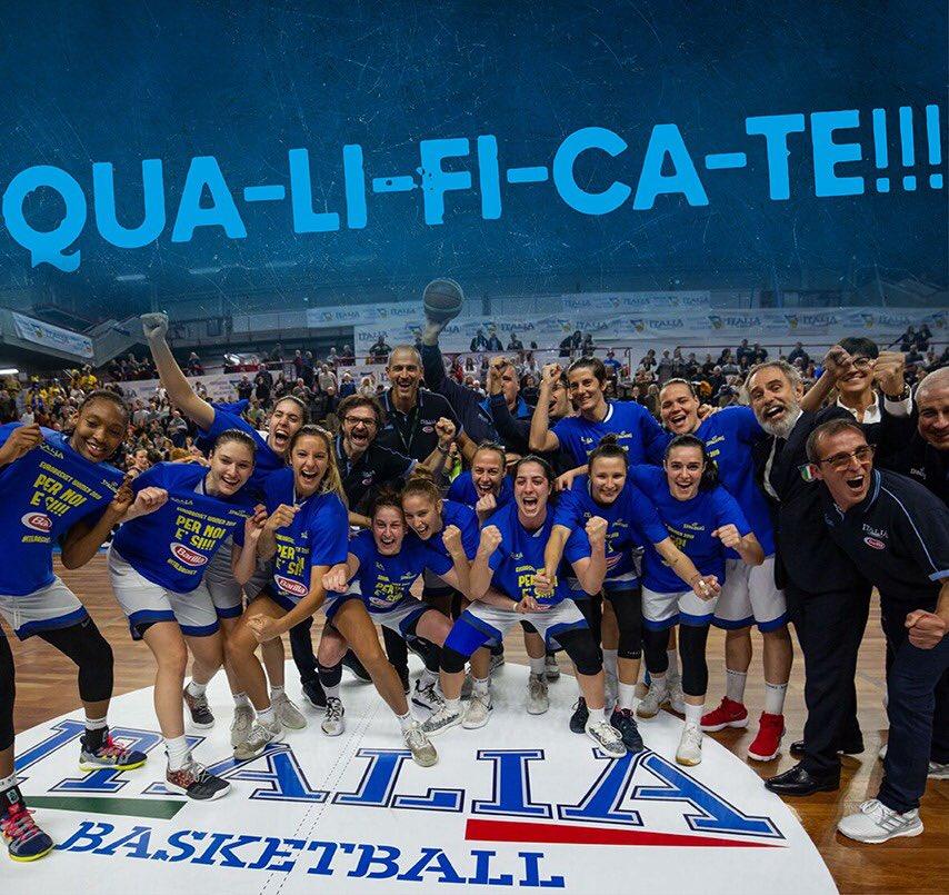 Basket Nazionale Femminile: Italia qualificata agli Europei del 2019!