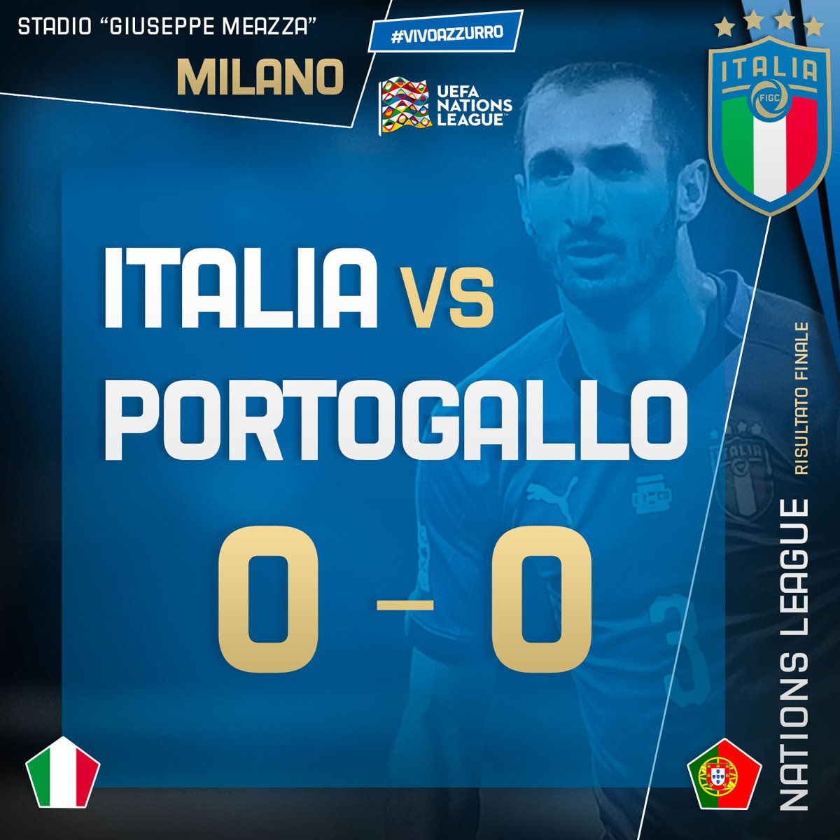 Nations League: finisce in parita  Portogallo e Italia (0-0)