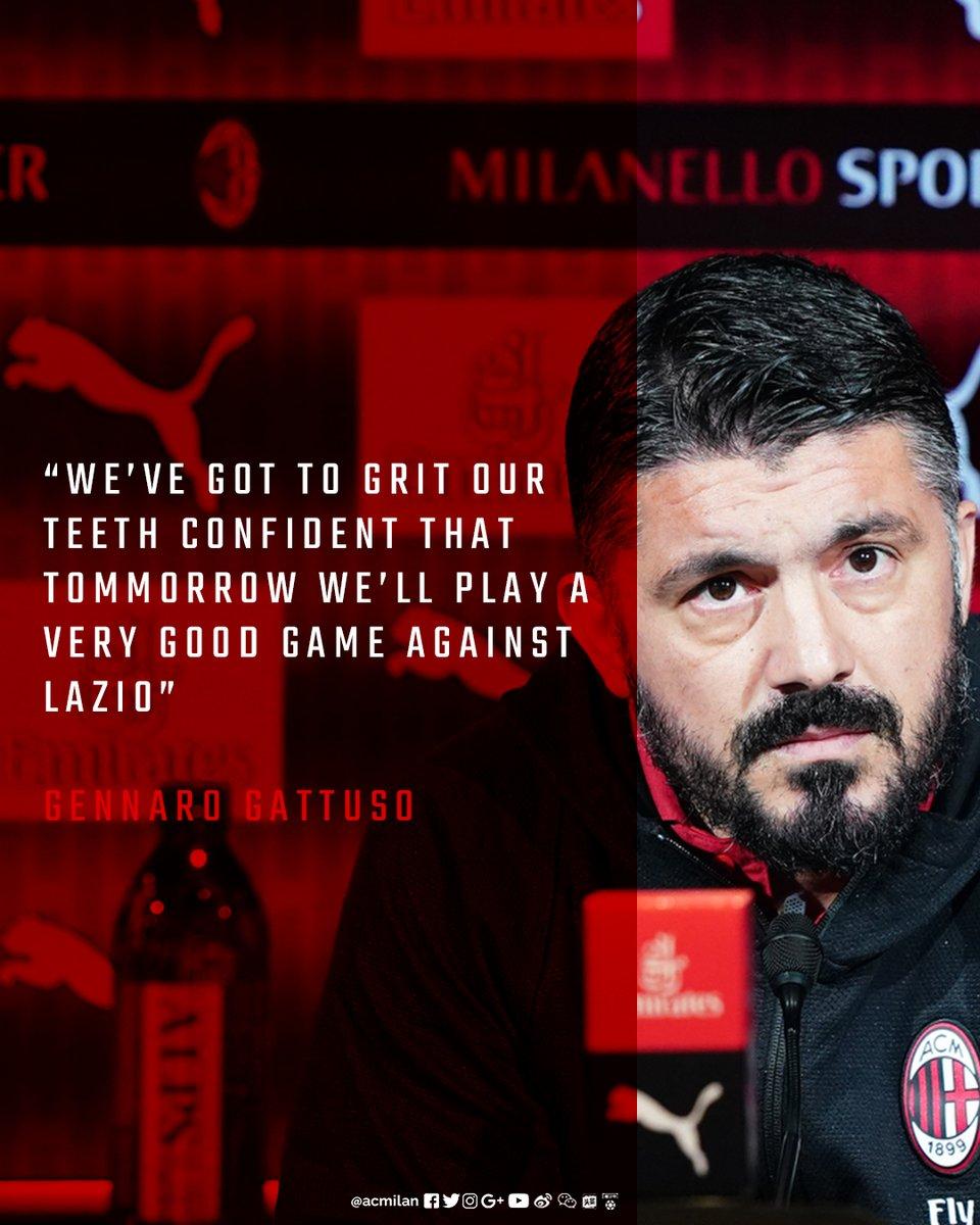 Milan, Gattuso in conferenza: da Ibra, alla Lazio e gli infortunati. I convocati rossoneri