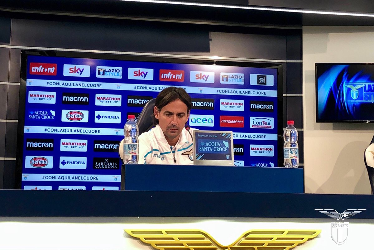 """Lazio, Inzaghi in conferenza: """"Mi aspetto una grande prova"""""""
