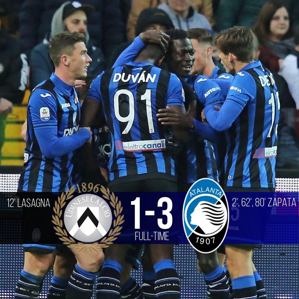 Serie A - Duvàn Zapata non perdona la sua ex, l'Udinese è travolta