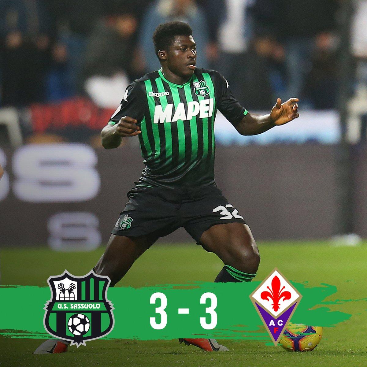 Pazza sfida tra Sassuolo e Fiorentina: al Mapei Stadium finisce 3-3!!!