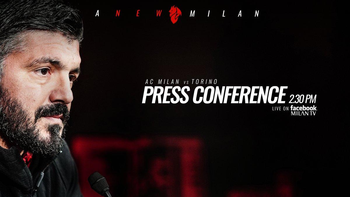 """Milan, Gattuso in conferenza: """"Terzo posto? Non ci penso, ma nel calcio può succedere di tutto"""""""