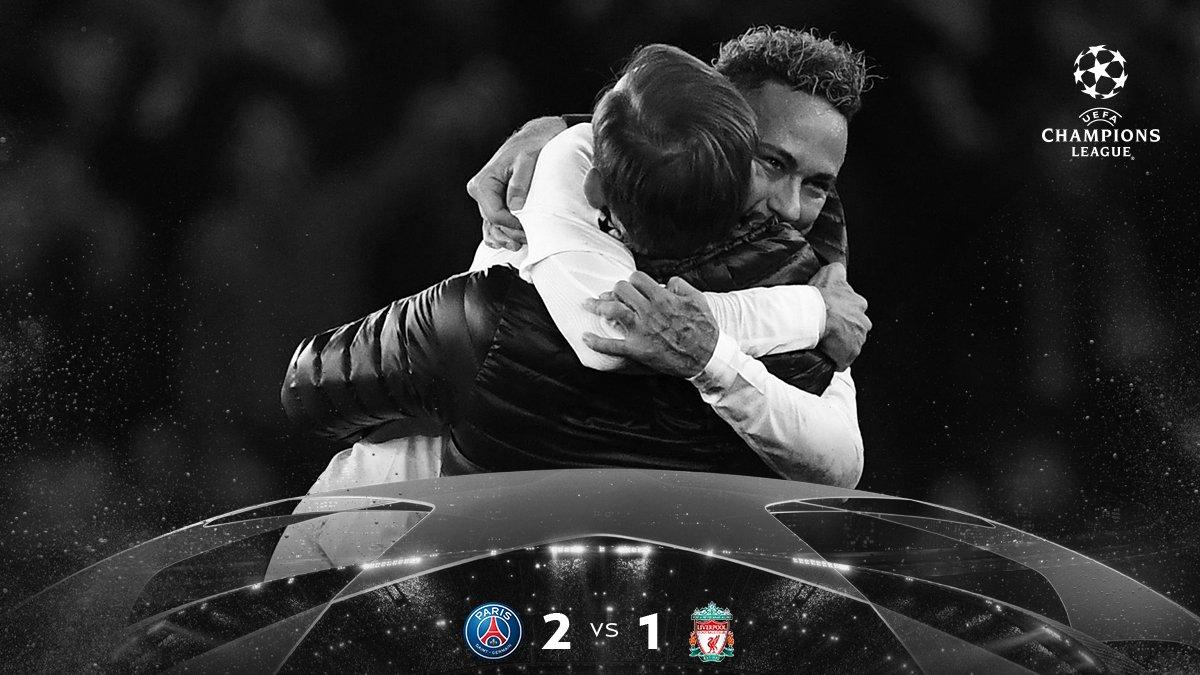 Champions League- Il PSG vince in casa e batte il Liverpool (2-1)