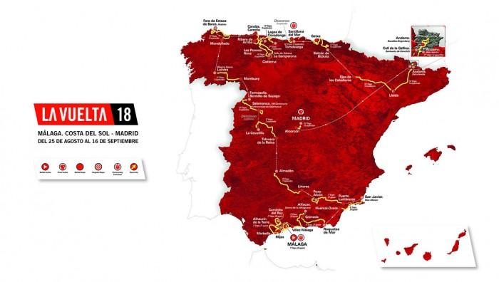 Vuelta 2018, svelato il percorso