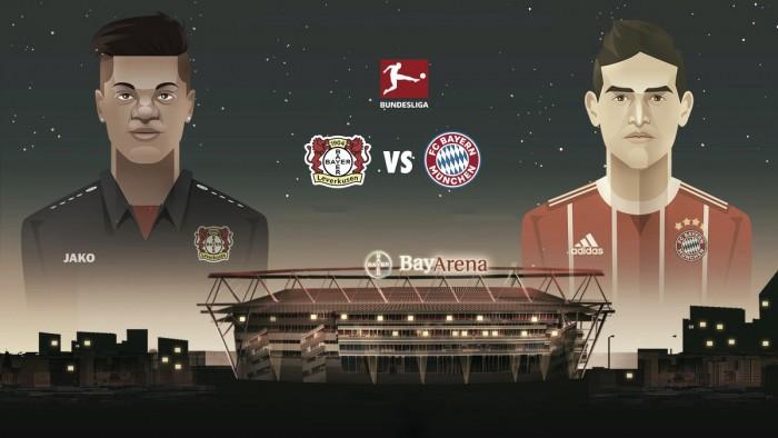 Resultado Bayer Leverkusen x Bayern de Munique pela Bundesliga 2017-18 (1-3)