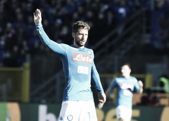 Il ritorno al goal di Mertens fa sorridere il Napoli: Atalanta battuta 0-1