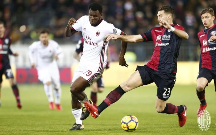 Serie A, il Milan grazie ad un super Kessie vince alla Sardegna Arena