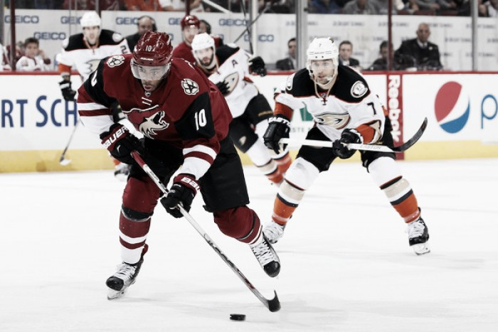 Arizona Coyotes look for continued success against Anaheim Ducks