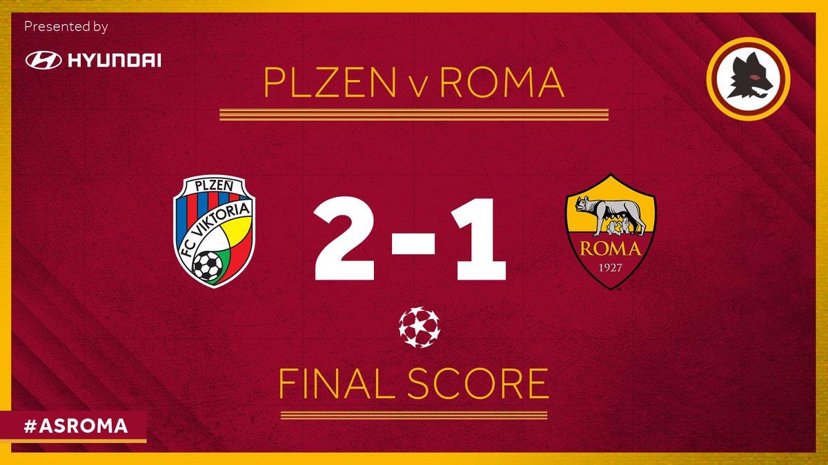 Champions League - Altra prova negativa della Roma sconfitta con ilViktoria Plzen (2-1)