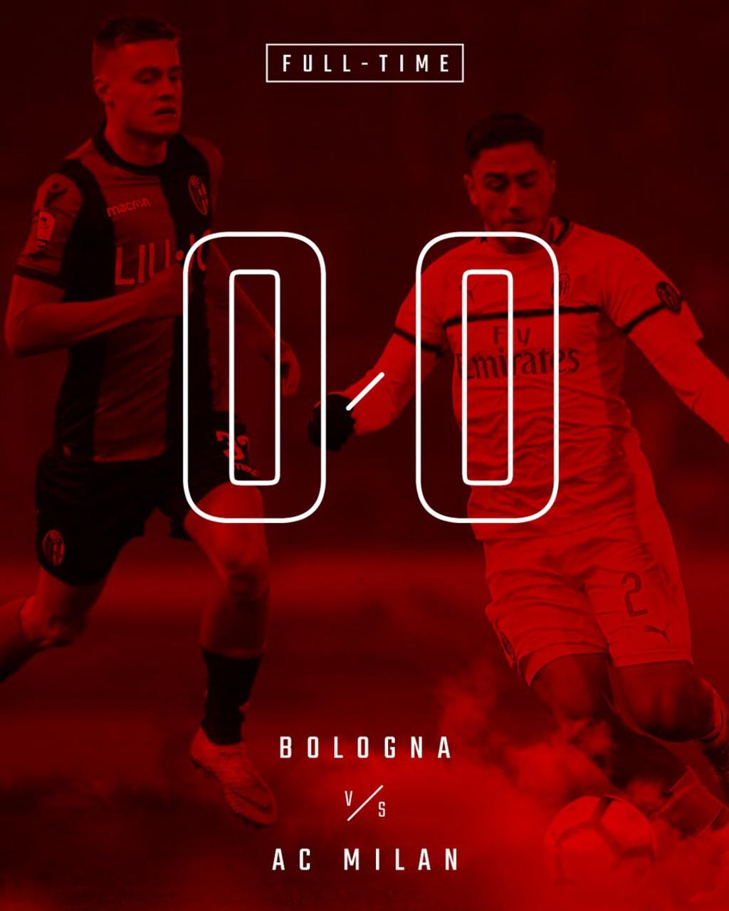 Serie A - Al Dall'Ara regna la noia: finisce 0-0 tra Milan e Bologna