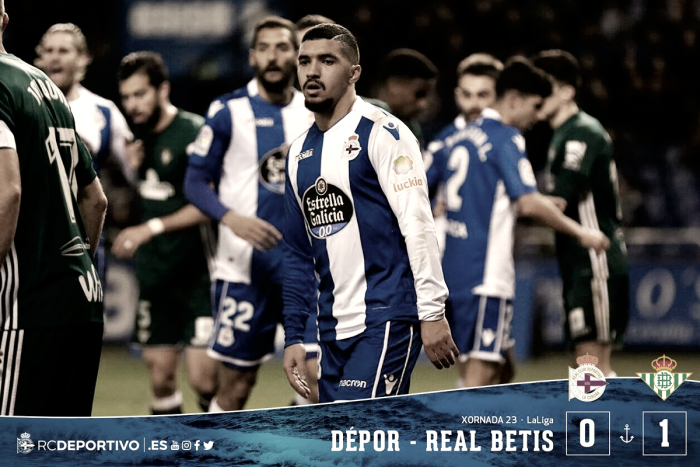 Deportivo de La Coruña - Real Betis: puntuaciones jornada 23