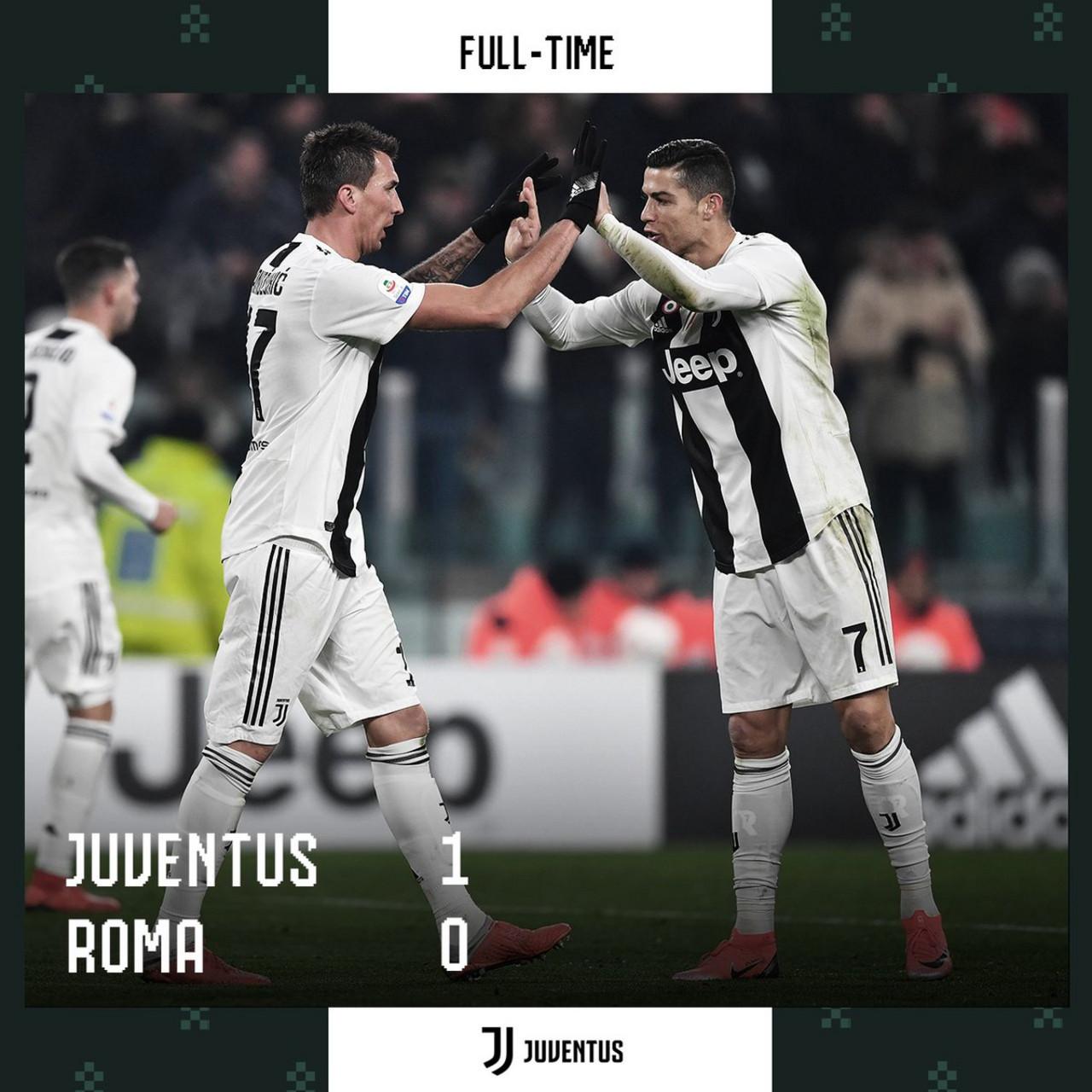 Serie A- La Juventus batte la Roma 1-0 ed è campione d'inverno