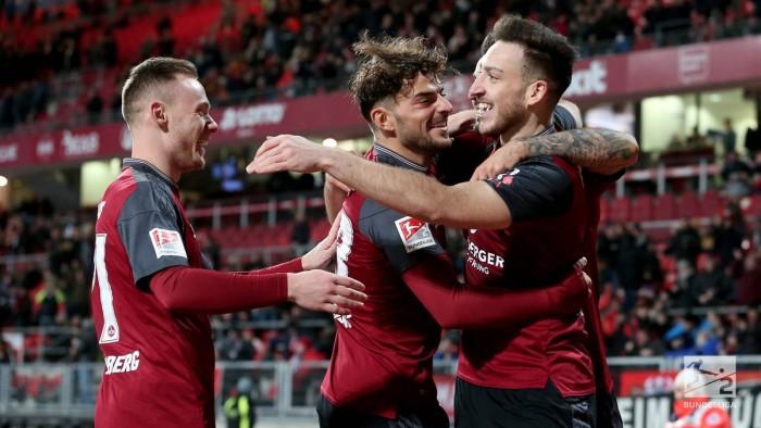 1. FC Nürnberg 4-1 Erzgebirge Aue:Kevin Möhwald double strengthens Der Club's grip on second