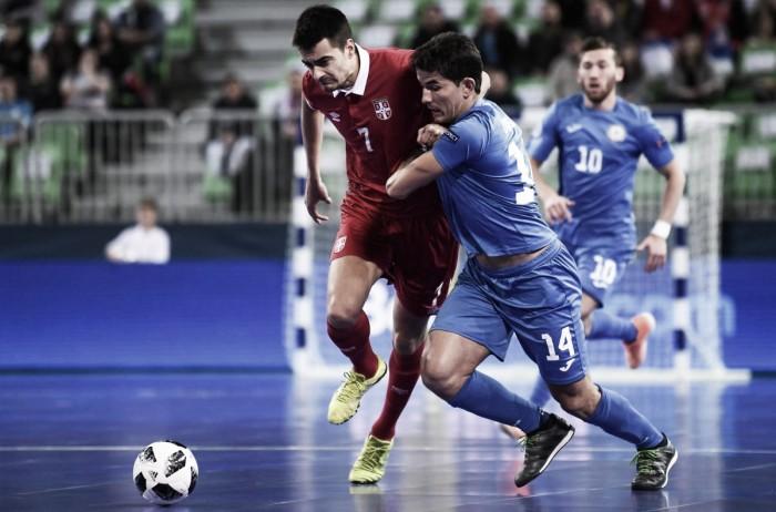 Kazajistán saca partido a su juego ante Serbia
