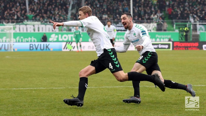 SpVgg Greuther Fürth 1-0 Dynamo Dresden: Lukas Gugganig goal boosts Shamrocks' survival hopes