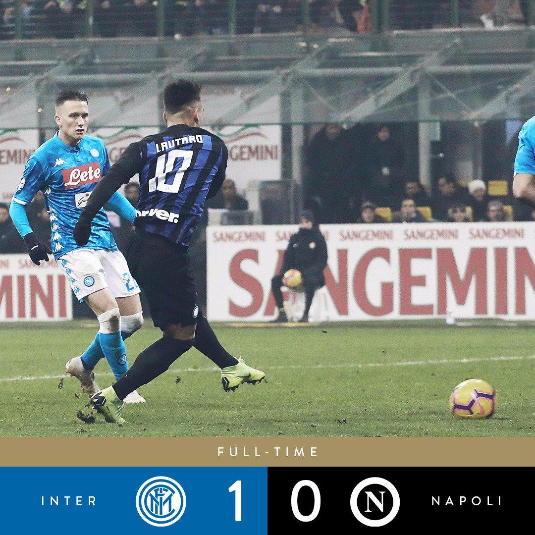 Serie A - Una sciocchezza di Koulibaly spiana alla vittoria dell'Inter: nel recupero la decide Lautaro Martinez