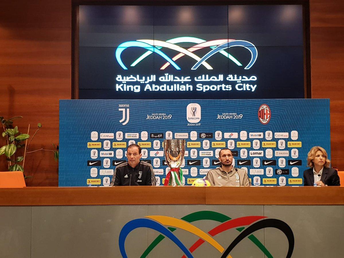 Supercoppa Italiana Juventus- La conferenza di Chiellini ed Allegri